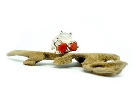 anello corallo agata