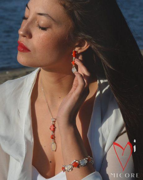 bracciali orecchini anello argento artigianali